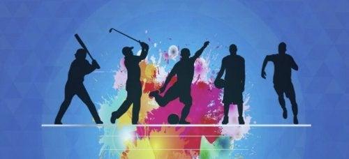 figures pratiquant un sport