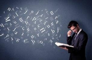 homme avec dyslexie