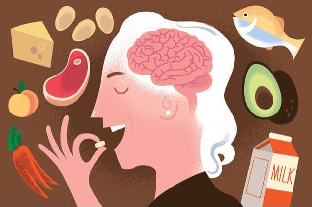 femme consommant de la vitamine B12