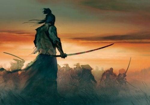 samourai au combat