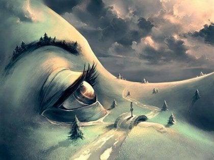 yeux d'une personne