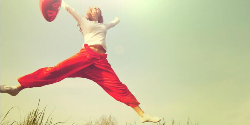 femme qui saute