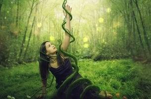 fille et racines