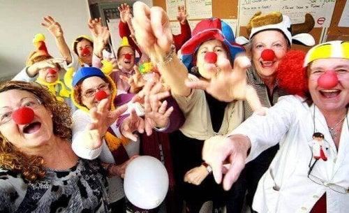 groupe de clowns
