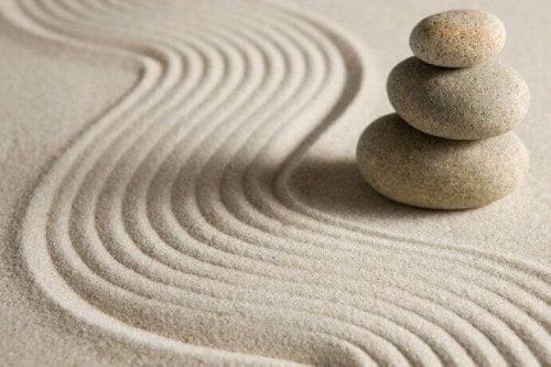 pierres sur sable