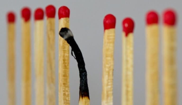 allumette brûlée