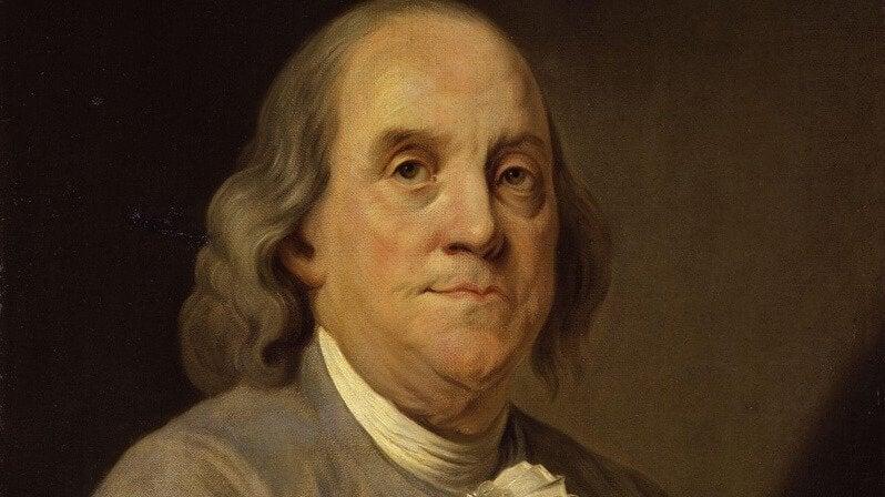 5 phrases pleines de sagesse de Benjamin Franklin