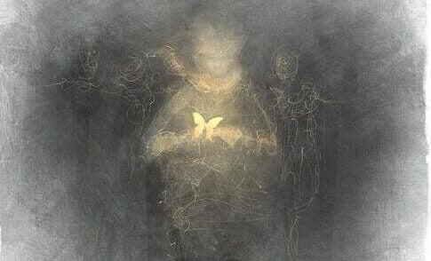image sombre d'une personne