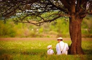 père et avec son fils