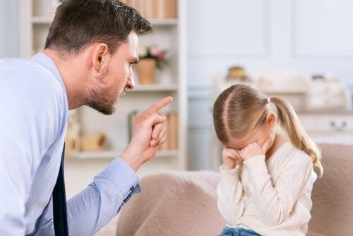 père qui punit sa fille
