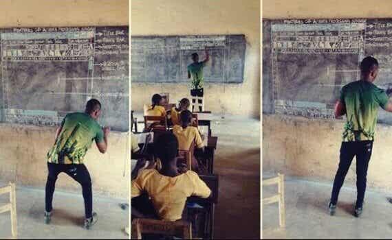 Attitude et inspiration : le professeur qui enseigne l'informatique au Ghana avec un tableau et une craie
