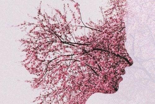 profil avec des fleurs
