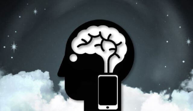 Cerveau avec mobile : syndrome des vibrations fantômes