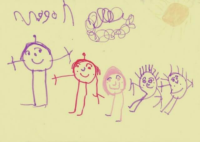 dessin de la famille d'un enfant