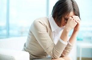 infirmière avec syndrome de burn-out