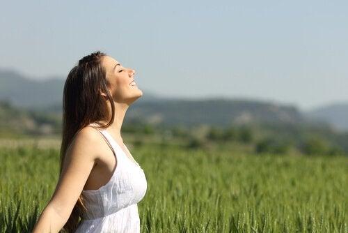 un des exercices de respiration : la respiration profonde