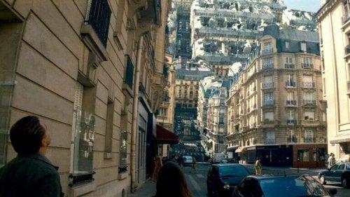 ville dans un rêve d'Inception