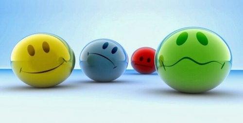 émotions en forme de boules