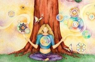femme et arbre