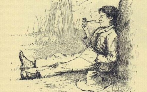 illustration huckleberry finn