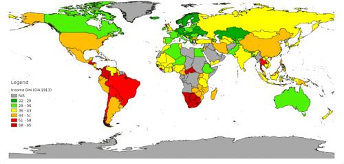 inégalité dans le monde
