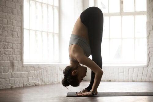 femme pendant un exercice de yoga