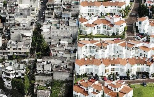 inégalité dans les quartiers