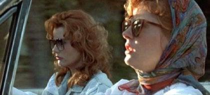 thelma et louise dans la voiture