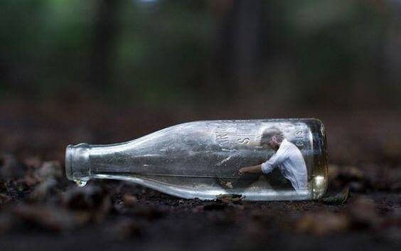peur du conflit bouteille