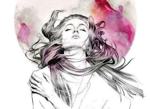 femme ressentant l'amour