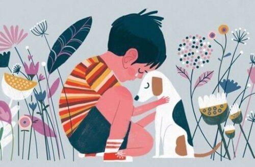 un enfant et son chien