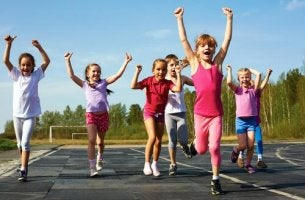 les enfants et le sport