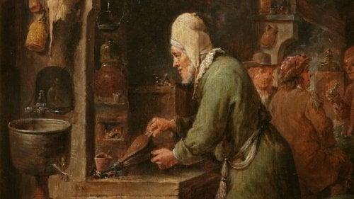l'alchimiste et l'histoire sur l'aveuglement mental