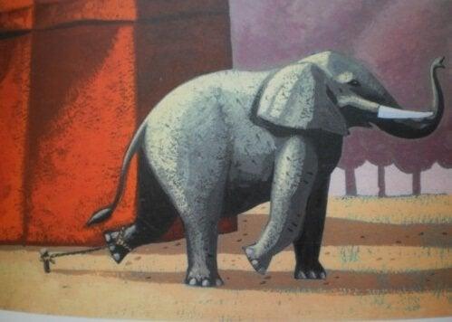 La belle histoire de l'éléphant enchaîné