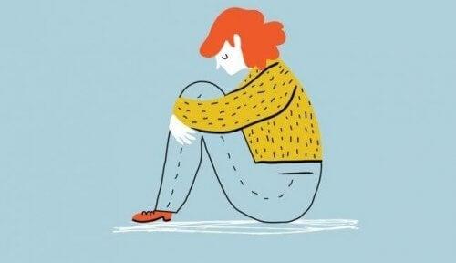femme vivant la tristesse et la dépression