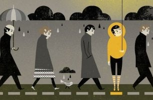 pluie et parapluies