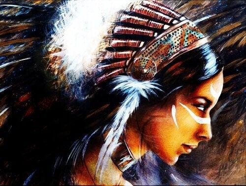 la légende Dakota de la jeune femme et des loups