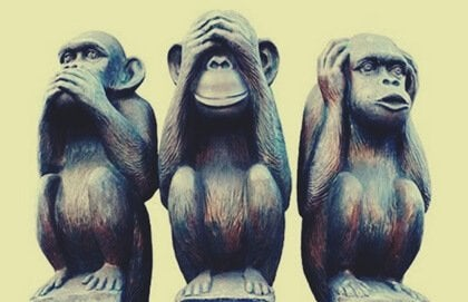 La métaphore des trois singes et le bien-vivre