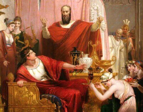 mythologie grecque : épée de Damoclès