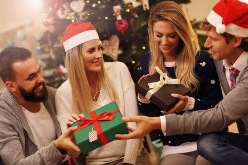 famille et cadeaux, traditions de Noël