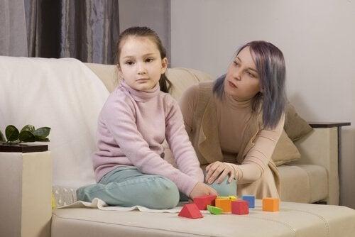 mère et fille autiste
