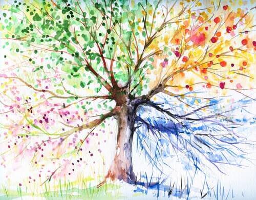 test de l'arbre permettant l'évaluation psychologique du dessinateur
