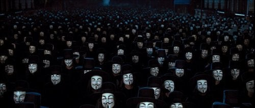 Des masques de V pour Vendetta