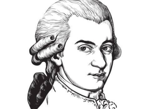 illustration de Mozart