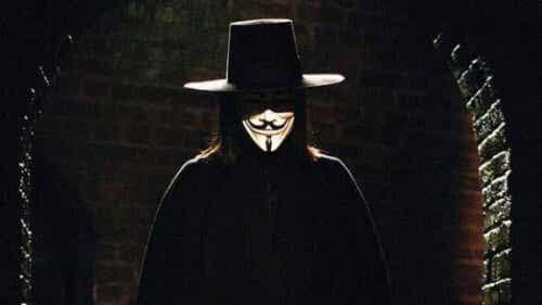 V, le leader révolutionnaire de V pour Vendetta