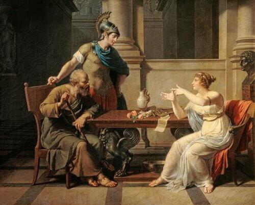Aspasie de Milet et Socrate