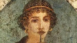 portrait de Sappho de Lesbos