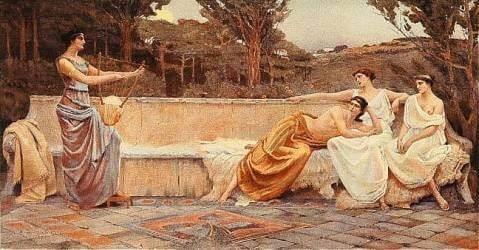 Sappho de Lesbos et ses muses
