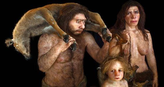 famille de Néandertaliens