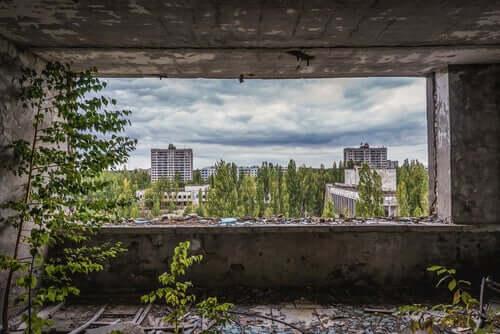 paysage de Tchernobyl